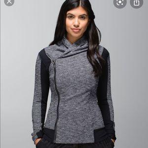 Grey and black Bhakti jacket lululemon
